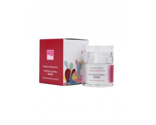 "Реструктурирующая уплотняющая сыворотка ""Taurine & Resveratrol"", Beauty Style, 30 мл"